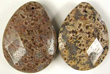 Turtle jasper pendants two piece parcel 15mm hole measures approximately 40mm x 30mm x 10mm aloadofball Image collections